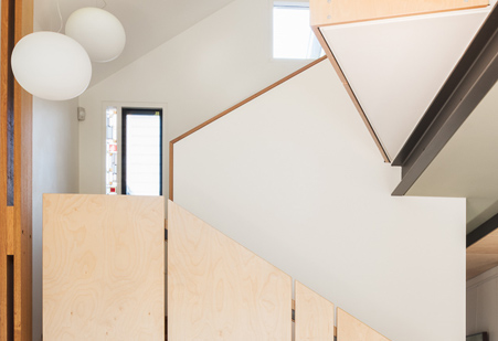 Staircase in Laneway house