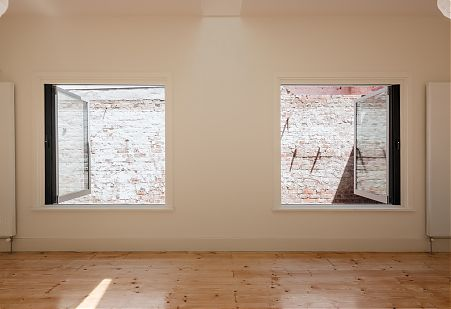 Daylight in Living Space. Brick and Timber.
