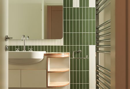 Modern Bathroom fixtures and tiling detail