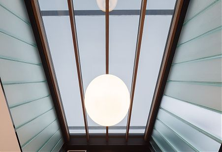 Channel glass atrium and skylight