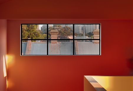 Void space window view out to West Melbourne