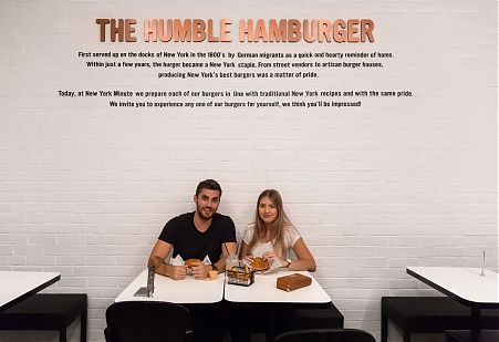 Humble Hamburger, Burger restaurant, Black and White
