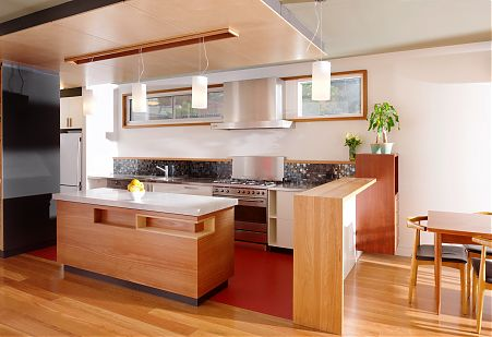 Modern timber family kitchen