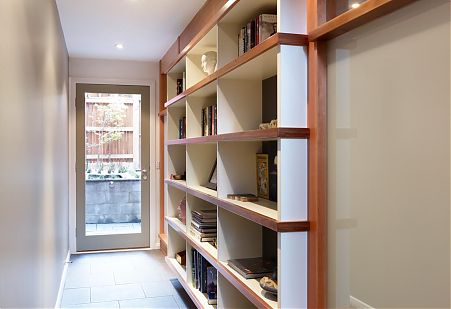 Inbuilt Timber shelving
