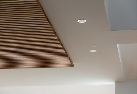 Timber feature ceiling