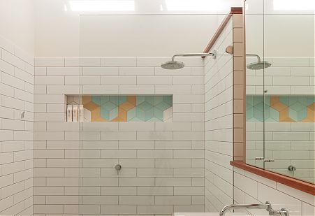 Modern bathroom tile detail