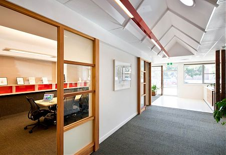 Scribe Publications Retrofit Reuse Office Project in Brunswick by Di Mase Architects